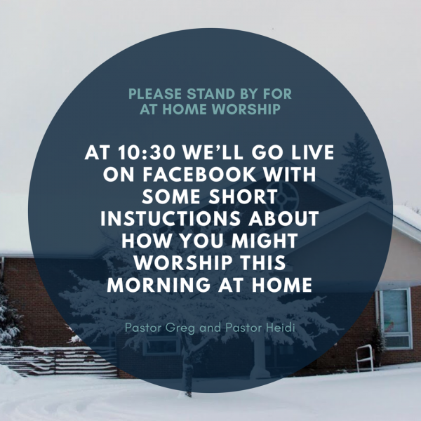 Click on the picture for our at home worship service for April 15, 2018